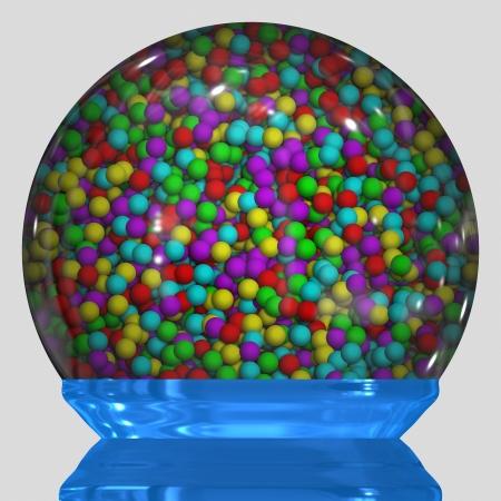 bubble gum in bowl photo