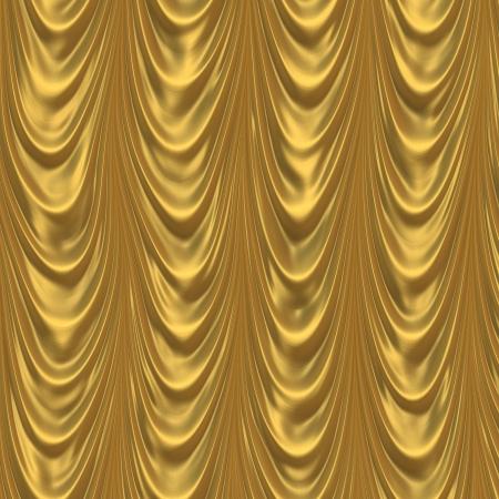gold curtain photo