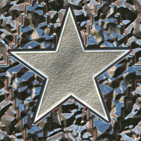 metal star photo