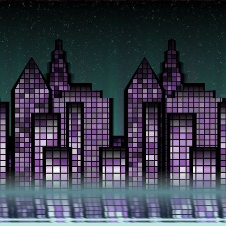 night city background Stock Photo - 21494715