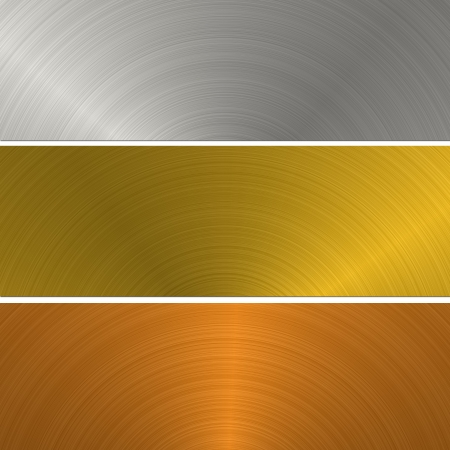 gold and silver metal banner photo