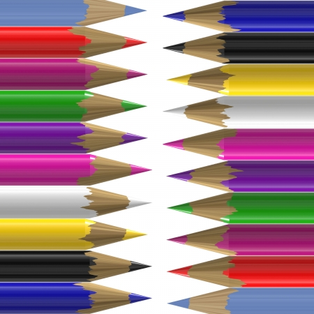 colorful pencil on white background Stock Photo