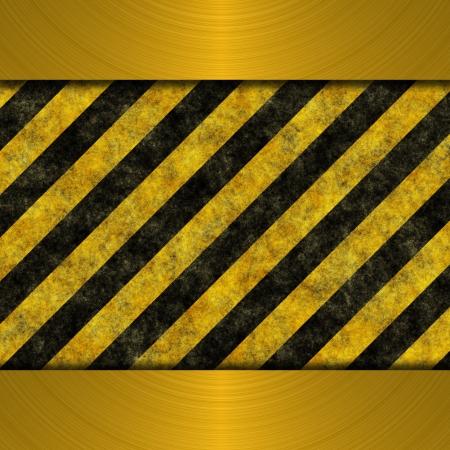 treadplate: danger sign Stock Photo