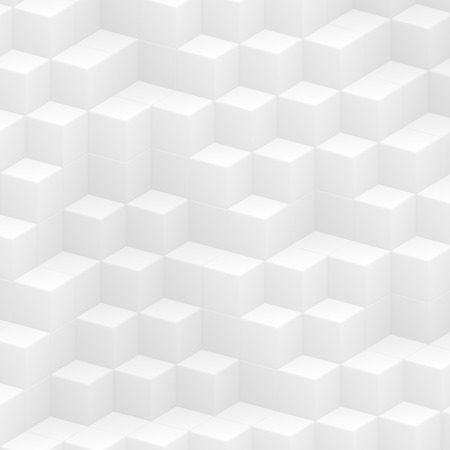 abstract cubes: white abstract cubes