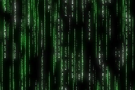 encoded: matrix background