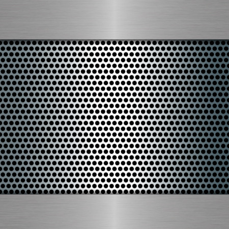 metal template: metal template with metal grill Stock Photo