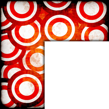 back to the future: grunge background with circles Stock Photo