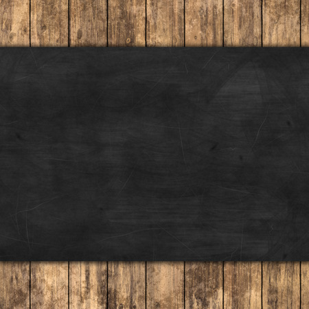 chalkboard on wooden texture