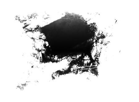 grey water: black stain