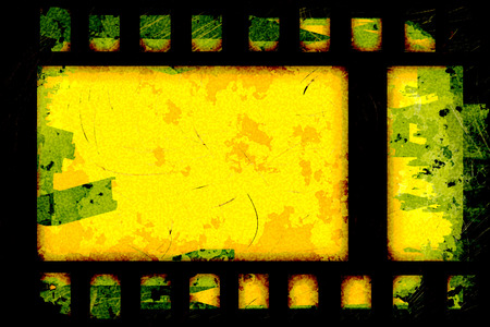 snapping: grunge film strip frame