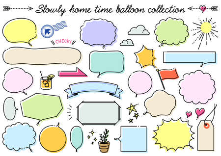 Slowly home time balloon collection