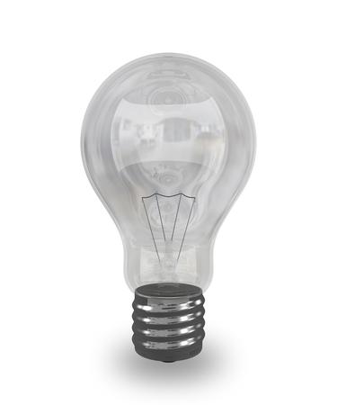 3d render Incandescent lamp eletric off