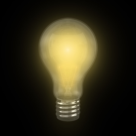 Brigth Incandescent Lamp with black background