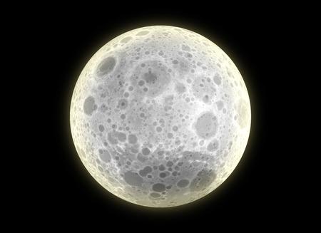 luminous: 3D Background Luminous Moon at Night