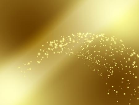 golden light: Golden Background with Gradient Wave Light Particles