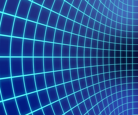 Shiny Distorted Grid Blue Gradient background Stock Photo