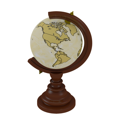 cartographer: 3D rendered Cartographer Earth Globe object decoration