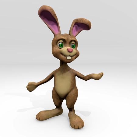 ester: Ester Bunny cartoon 3D render holiday symbol