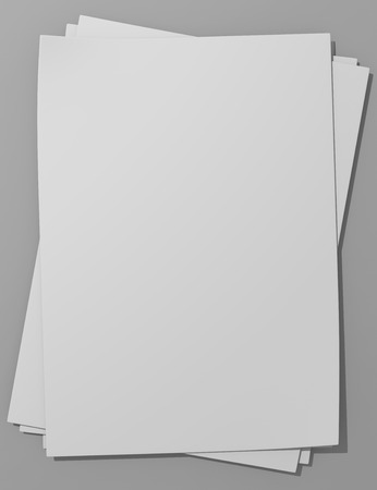 Blank papers with shadows and clear background Imagens