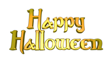 Happy Halloween Title with Text White Background Imagens