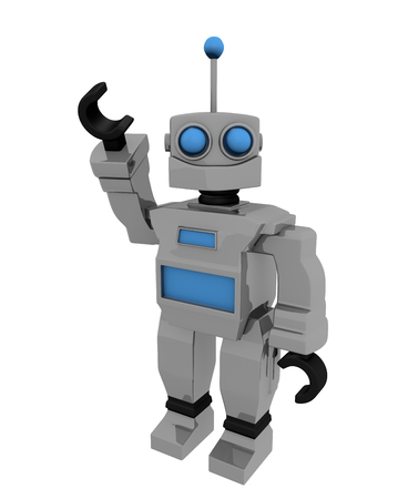 Robot Toy Cartoon 3D Render Illustration