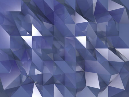 Blue crystals background with reflections and shinning triangles Imagens