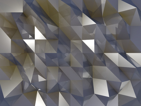 Brown and Blue crystals background with reflections and shinning triangles
