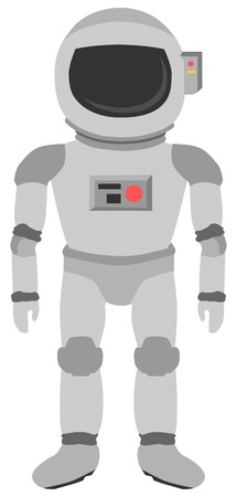 Space Astronaut suit equipment articulated illustration