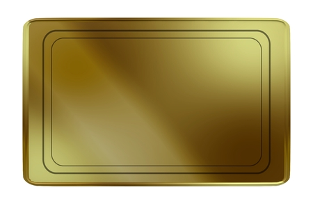 Blank Golden card with relief for engraving