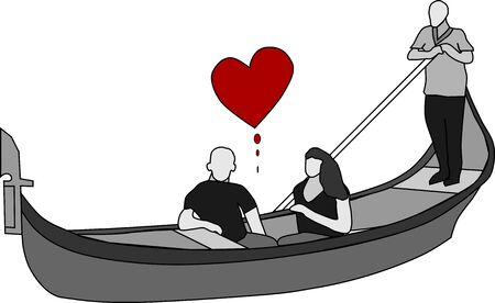 Valentine's Day in a gondola in Venice, Italy