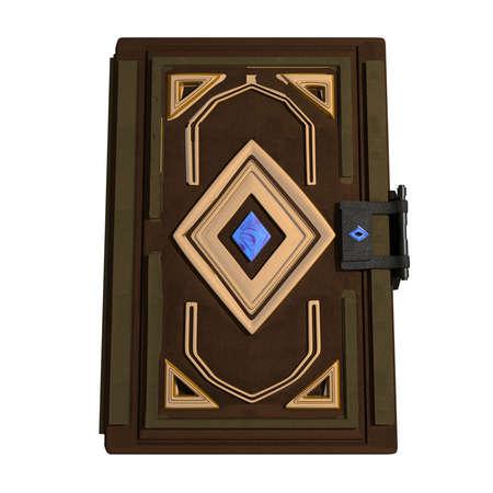 Magic Book with golden details 3D Illustration Rendering