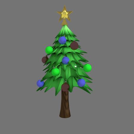 Decorated Christmas Tree Pine