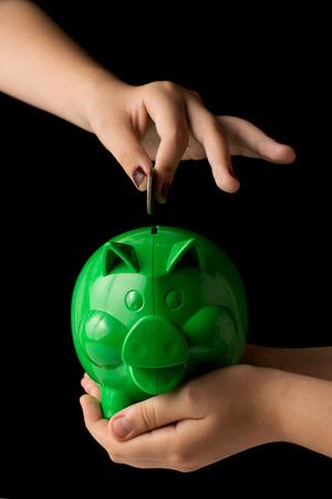 Piggy Bank with money photo