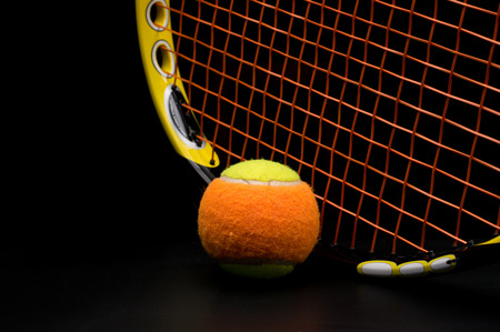 Tennis ball for kids with tennis racket