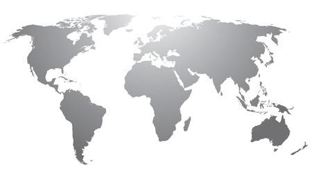 World map countries gray gradient Ilustração