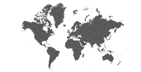 Countries isolated World map EPS8 vector file