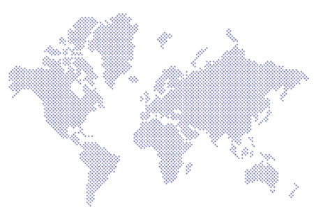 World map dots EPS 10 Vectores