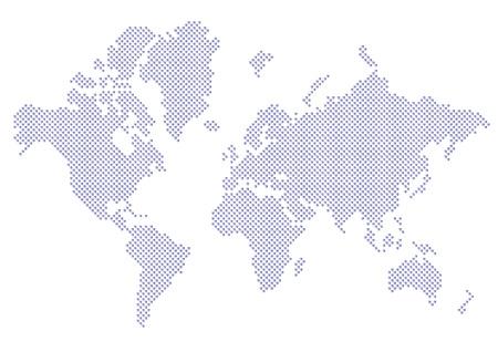 mapa mundi: Mapa del mundo puntos 10 EPS Vectores