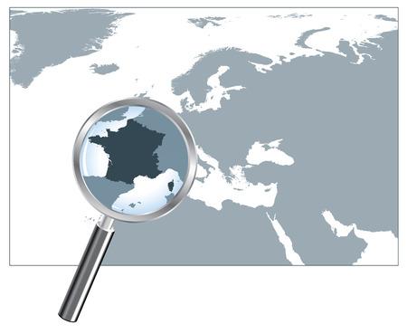 identidad cultural: Mapa de Francia