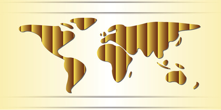the continents: World Map freehand continents gold saand dunes