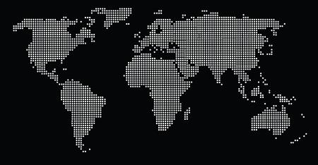 World map dots EPS 10 Ilustração