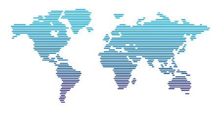 lineas horizontales: Mapa del mundo l�neas horizontales