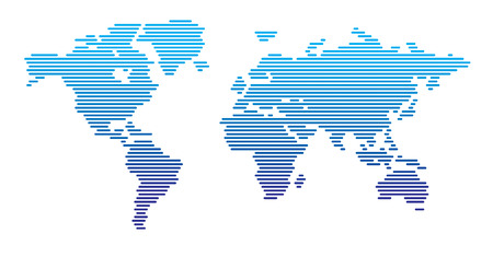 horizontal lines: World map horizontal lines Illustration