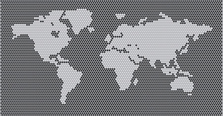 illustrated globes: World Map Concept