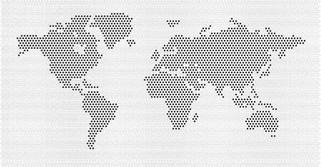 illustrated globes: World Map Concept Illustration