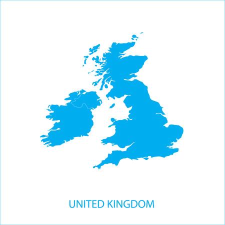 Reino Unido - Mapa Foto de archivo - 39041717