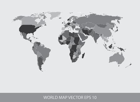 세계지도 개념 EPS 10 일러스트