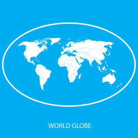 Globe icon - world Map