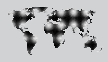 illustrated globes: World Map Concept Dots EPS 10 Illustration