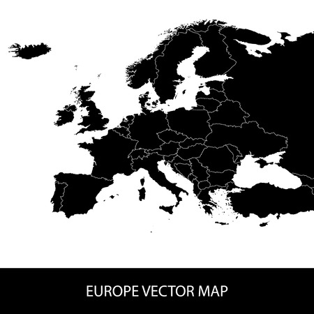 balkan: Europe Vector Map